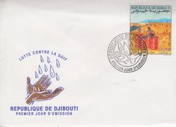 Enveloppe  FDC  1er  Jour   DJIBOUTI    Lutte  Contre  La  Soif   1991