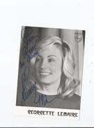 GEORGETTE LEMAIRE CARTE AVEC AUTOGRAPHE - Autografi