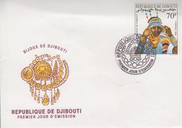 Enveloppe  FDC  1er  Jour   DJIBOUTI    Bijoux  De   DJIBOUTI  1990