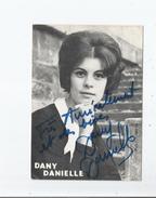 DANY DANIELLE CARTE AVEC AUTOGRAPHE - Autografi