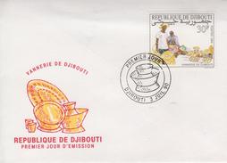 Enveloppe  FDC  1er  Jour   DJIBOUTI    Vannerie  De   DJIBOUTI  1990