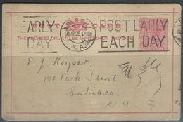 Victoria  1p Queen Victoria  Postal Card Used Perth Cancel - 1850-1912 Victoria