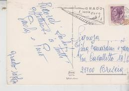 1970 Annullo Meccanico A Targhetta Grado (GO) GRADO Isola D'Oro  Su Cartolina Illustrata - 6. 1946-.. Repubblica