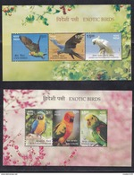 INDIA, 2016, Exotic Birds,  Macaw, Conure, Parrot, Amzon, Crested Cockatoo,  MS, 2 SHEETS, MNH, (**)