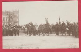 Liège-Fête De La Libération , 22 Nov 1918- Le Salut Royal Du Roi Albert Au 12me De Ligne - Carte Photo  (voir Verso ) - Liege