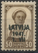 Latvia / 1941 / German Ocupation / Mi.: 6 / MH