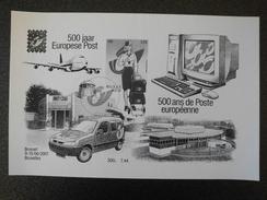 België Belgium 2001 - 500 Jaar Europese Post / 500 Years Of European Post - Belgica 2001 Stamp Expo Souvenir Sheet
