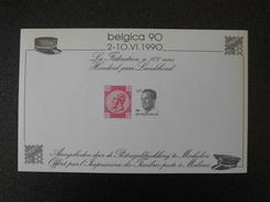 België Belgium 1990 - 100 Jaar Landsbond - Belgica 1990 Stamp Expo Souvenir Sheet