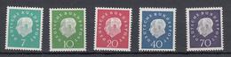 Germania Federale - 1959 - Mi. 302/306 **