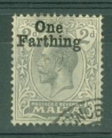 Malta: 1922   KGV - Surcharge     SG122   ¼d On 2d     Used