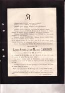 OOSTENDE OSTENDE Louis CARBON époux HAMMAN 1858-1897 Consul De Russie Doodsbrief GODDYN CARPENTIER - Obituary Notices