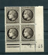 1726 - FRANCE   N° 677   1Fr20  Noir    Du 6.2.45     TTB - Dated Corners