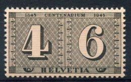 1733  -  SUISSE   N° 384**   4 + 6(r)  Centenaire Du Timbre De Zurich      SUPERBE