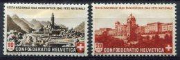 1734  -  SUISSE   N° 385/86*   Fête  Nationale      TB, B/TB