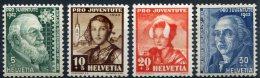 1737  -  SUISSE   N° 380/83*  Pro  Juventute 1942      TB