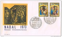 16270. Carta F.D.C. ANDORRA Española 1973. Navidad. Nadal 73