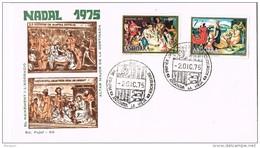 16155. Carta F.D.C. ANDORRA Española 1975.  Nadal, Navidad 1975