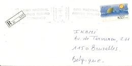 Espana ATM 1997 Gandia Valencia >> Bruxelles B / Certificado Registered - 1931-Aujourd'hui: II. République - ....Juan Carlos I