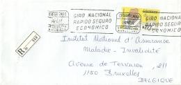Espana ATM 1997 Barcelona >> Bruxelles B / Certificado Registered - 1931-Aujourd'hui: II. République - ....Juan Carlos I