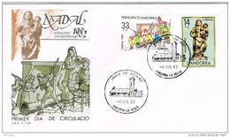 11402. Carta F.D.C. ANDORRA Española 1982. Nadal, Navidad 82, Caga Tio