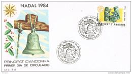 11400. Carta F.D.C. ANDORRA Española 1984. Nadal, Navidad 84