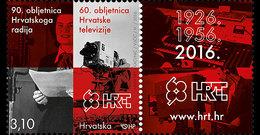 CROATIA 2016 90th Anniversary Of The Croatian Radio & 60th Anniversary Of The Croatian Television