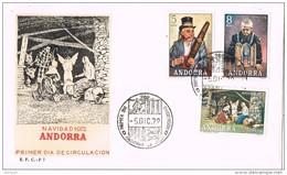 14099. Cara S.P.D. ANDORRA Española.  Navidad 1972