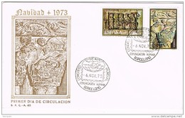 16208. Tarjeta Exposicion BARCELONA 1973,   Congreso Comunicacion Humana. Navidad - 1931-Hoy: 2ª República - ... Juan Carlos I