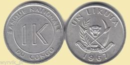 CONGO Kongo 1967 1 Un Likuta UNC - Congo (Repubblica Democratica 1998)