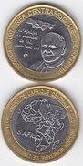 CENTRAL AFRICA 2007 Pope Papst JOHN PAUL II 4500 Francs Cfa UNC Bimetal - Central African Republic