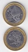 GABON 2007 Pope Papst JOHN PAUL II 4500 Francs Cfa UNC Bimetal - Gabon