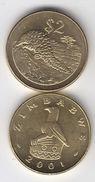 ZIMBABWE 2001 2 Dollars $ Pangolin UNC - Simbabwe