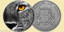 CONGO 2013 Amur Leopard Panthera Nature's Eye UNC - Kongo (Dem. Republik 1998)
