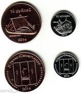SOUTH SAKHALIN 2014 Set Of 2 Coins UNC Ships - Munten