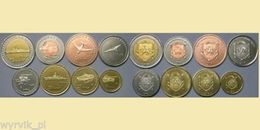 CRIMEA 2014 Set Of 8 Coins WAR MACHINES - Coins