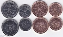 OMAN 2015 Set Of 4 Coins 5-50 Baisa Commemorative - Oman