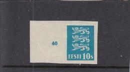 Estonia,1928/29 ,PROOF,Coat-of-arms 10 Senti Margin Piece,MNH