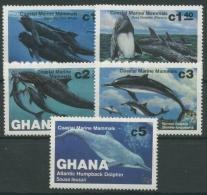 Ghana 1983 Wale Und Delphine Grindwal Schwertwal 977/81 Postfrisch - Ghana (1957-...)