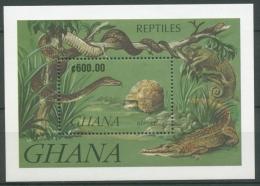 Ghana 1991 Reptilien Schlange Schildkröte Block 183 Postfrisch (C23922)