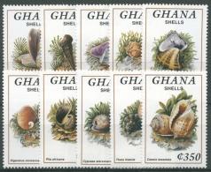 Ghana 1992 Meeresschnecken Und Muscheln 1731/40 Postfrisch