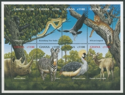 Ghana 2000 Tiere Afrikas Zebra Nashorn Leopard 3059/66 K Postfrisch (C23963)