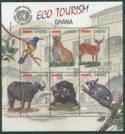 Ghana 2002 Öko-Tourismus Büffel Schimpanse 3449/54 K Postfrisch (C23975)