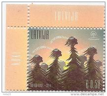 Latvia Lettland 2014 Award - Latvian Pride , - Singing Trees - CORNERS MNH