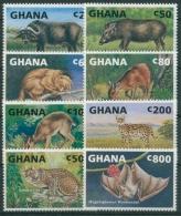 Ghana 1993 Tiere Afrikas Büffel Flughund Serval 1832/39 Postfrisch