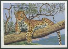 Ghana 1994 Wildtiere Leopard Block 247 Postfrisch (C23917)