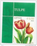 Latvia 2014 TULIP  Flower STAMP  MNH