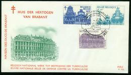 Belgien FDC 1965 - MiNr 1411-12,13 - TUBERKULOSE - Fd105