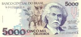Brazil P.232a   5000 Cruzeiros 1990  Unc - Brasile
