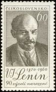 Czechoslovakia / Stamps (1960) 1109: 90th Birthday Vladimir Ilyich Lenin (1870-1924); Painter: Karel Svolinsky