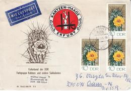 "DDR 1985°, Brief Von Kakteen-Haage Nach Odessa, Kaktus / DDR 1985, Used, Cover From ""Cactus Haage"" To Odessa, Cactus"